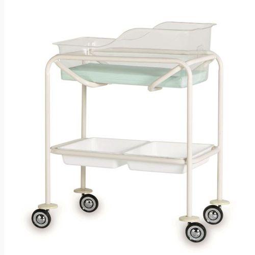 医用滑轮婴儿床 / 透明 / 不锈钢