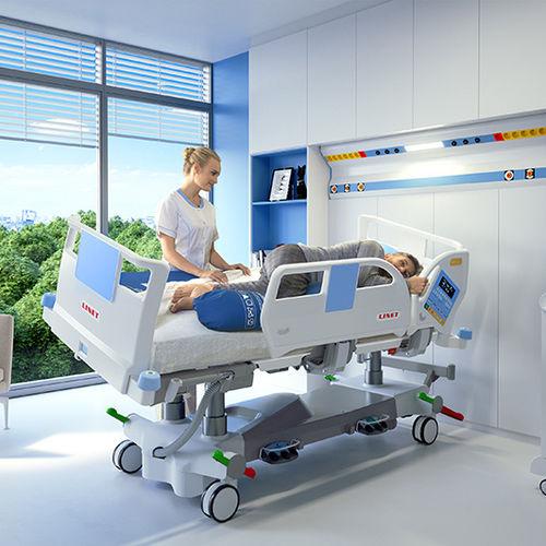 重症监护病床 / 电动 / 高度可调节 / 可侧面倾斜