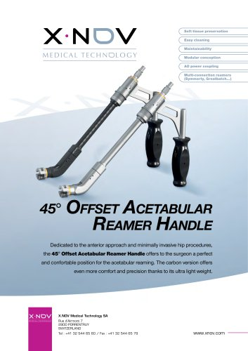 45° Offset Acetabular reamer Handle