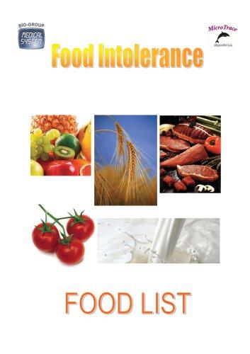 FOOD LIST CYTOX