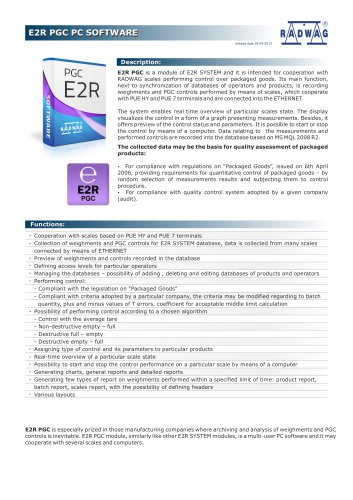 E2R PGC PC SOFTWARE