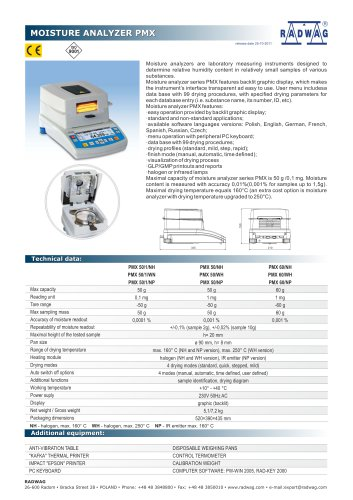 MOISTURE ANALYZER PMX