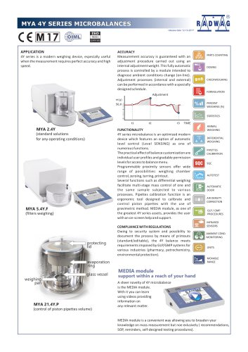 MYA 4Y SERIES MICROBALANCES