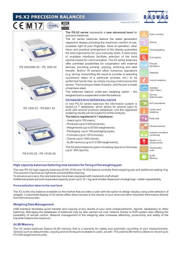 PS.X2 PRECISION BALANCES