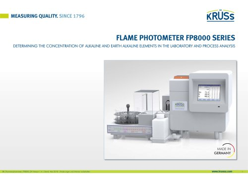 Flame Photometers FP8000 Series