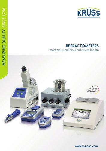 Refractometers from A.KRÜSS Optronic