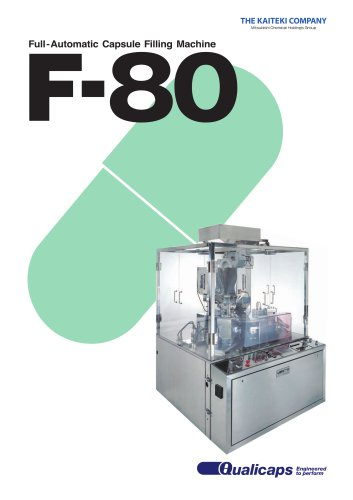 F-80 Fully-Automatic Capsule Filling Machine