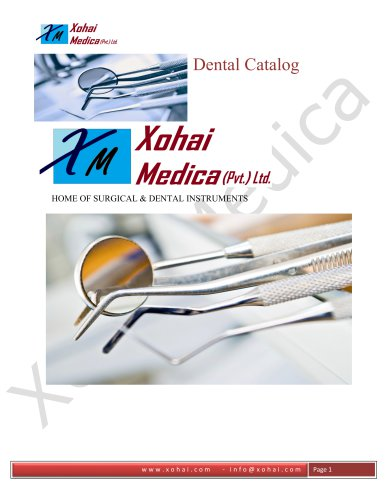 Xohai Medica Dental Catalogue