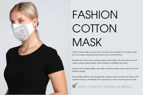reusable safety mask / breathable / washable