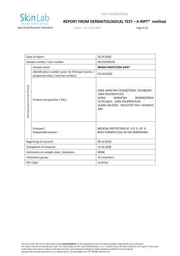 Skin Lab International hypoallergenic test report