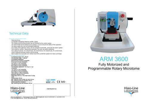 ARM 3600 Microtome rotative full automatic