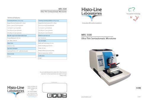 MRS 3500 Microtome rotative semi automatic