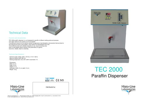 TEC 2000 Paraffin Dispenser