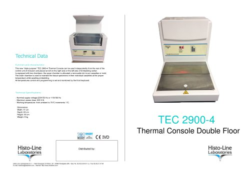 TEC 2900-4 Thermal Console Double Floor