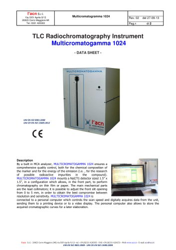 Radiocromatograph Multicromatogamma