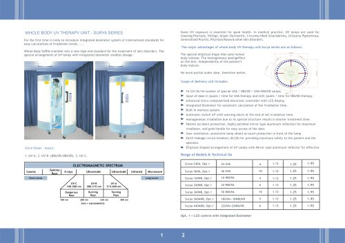 Whole body UV Therapy (Surya Series)