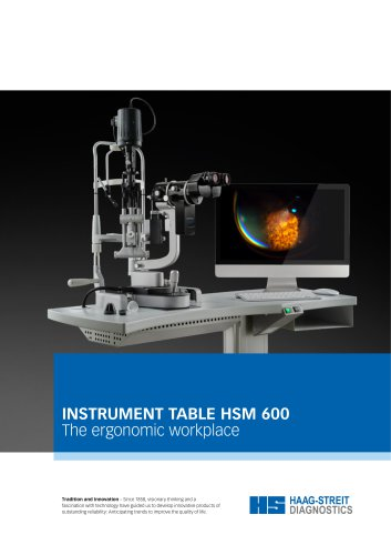 INSTRUMENT TABLE HSM 600