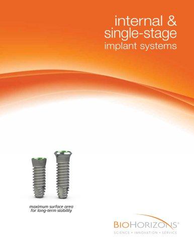 Internal & Single-stage  Dental Implant Catalog