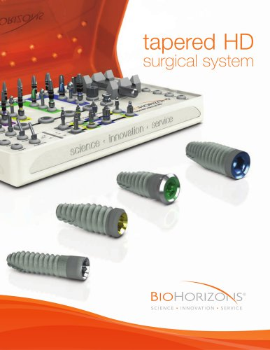 Tapered HD Surgical System Catalog