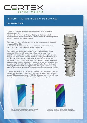 """N"""" The Ideal implant for D5 Bone Type"""""""