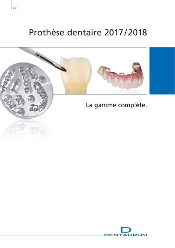 Catalogue Prothèse dentaire