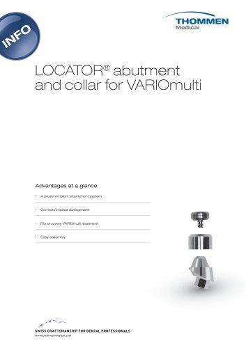 LOCATOR abutment and collar for VARIOmulti