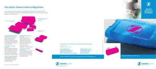 Zimmer ® Instrument  Kit System