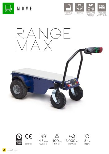 RANGE MAX Electric transport cart