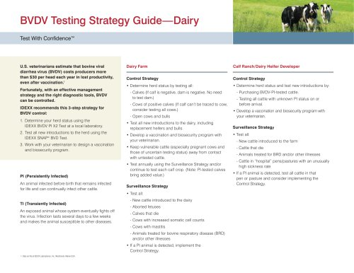 BVDV Testing Strategy Guide—Dairy