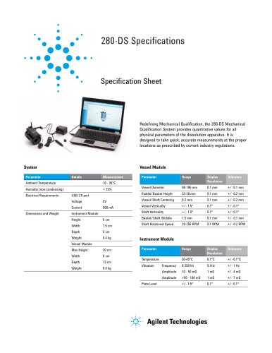 280-DS Mechanical Qualification System Specification