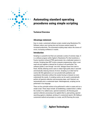 Automating standard operating procedures using simple scripting