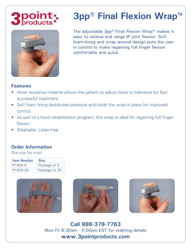 3pp® Final Flexion Wrap™