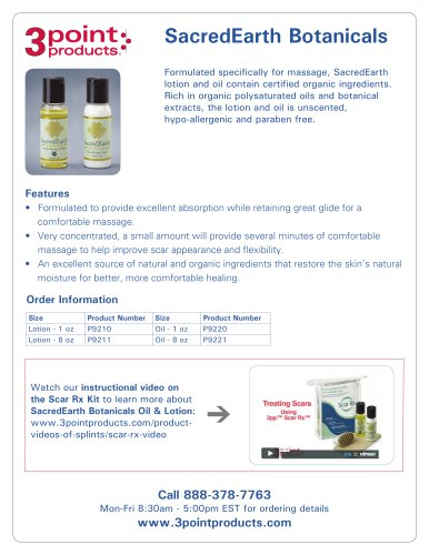 SacredEarth Botanicals Oil & Lotion